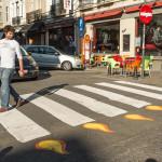 Fiat transformeert zebrapaden naar verjaardagskaarsjes