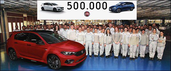 Fiat Tipo bereikt de kaap van 500.000 exemplaren