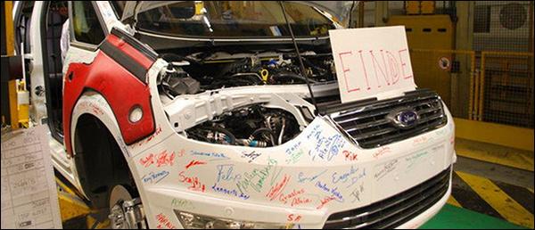 Laatste auto rolt vandaag van de band bij Ford Genk