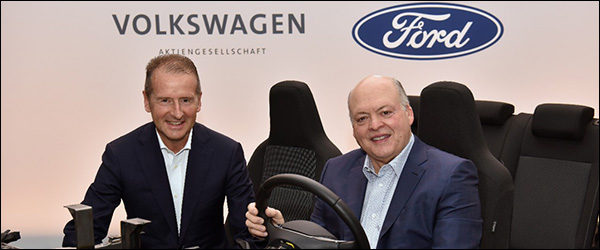 Volkswagen en Ford gaan samen elektrische auto's bouwen!