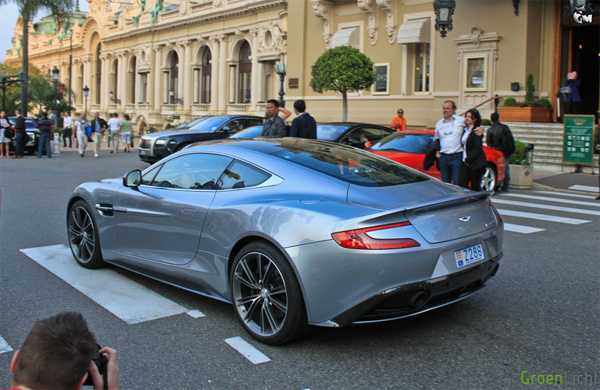 Gespot: Aston Martin Vanquish te Monaco