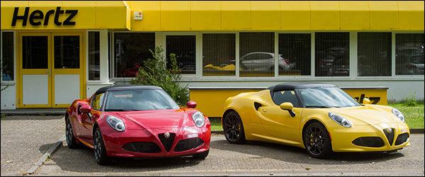 Alfa Romeo 4C Spider (tijdelijk) te huur via Hertz autoverhuur!