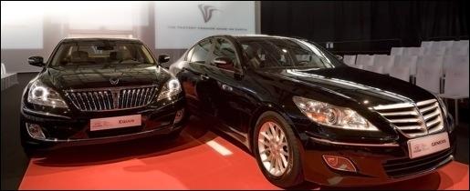 Hyundai Genesis Berline en Equus