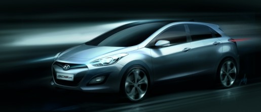 Hyundai i30 schets