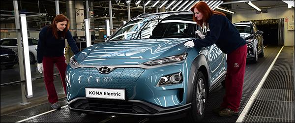 Hyundai verhoogt productie Kona Electric (2020)