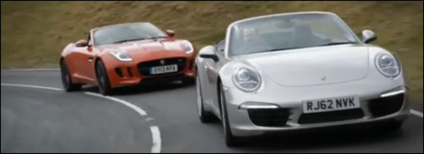 Jaguar F-Type S vs Porsche 911