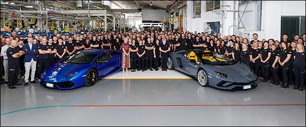 Lamborghini viert productierecords Huracan en Aventador