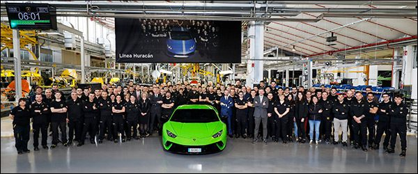 Lamborghini Huracan nummer 10.000 is groen