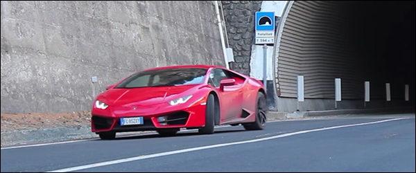 Video: Lamborghini Huracan LP580-2 laat zijn V10 schreeuwen in de Alpen