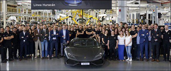 Lamborghini Huracan #8000 is alreeds een feit