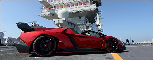 Lamborghini Veneno Roadster doet Abu Dhabi aan