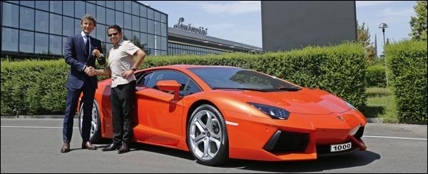 Lamborghini aventador Number 1.000