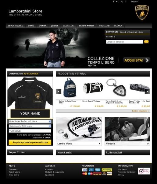 Lamborghini Webwinkel