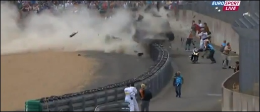 Le Mans crash Audi McNish