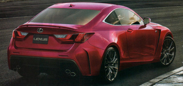 Lexus RC F Rear 2014
