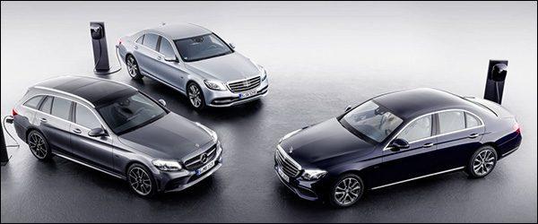 Officieel: Mercedes C300de / E300de diesel plug-in hybride (2018)