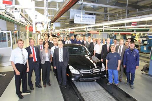 Mercedes CLS laatste exemplaar
