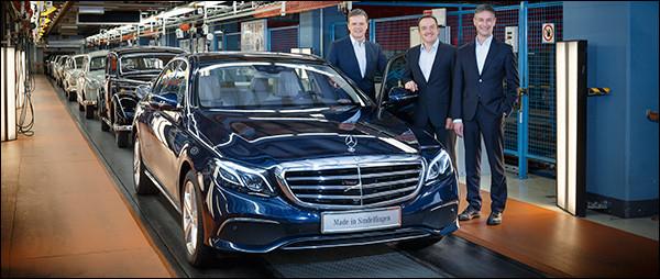 Productie Mercedes E-Klasse van start!
