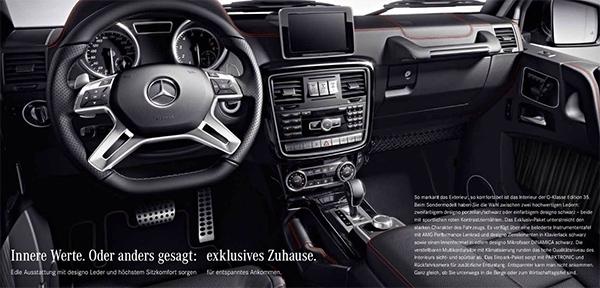 Mercedes G-klasse viert zijn jubileum met de 35 edition