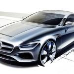 Schetsen Mercedes S-Klasse Coupe Concept - CL opvolger