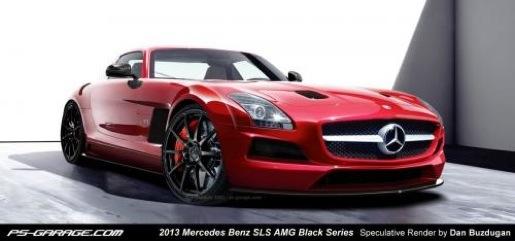 Mercedes SLS AMG Black Series Render