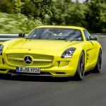 Mercedes SLS AMG Electric Drive knalt op de Nürburgring