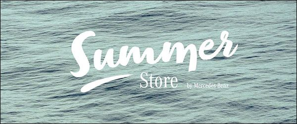 Zomerse Mercedes-Benz Summer Store in Knokke (2017)