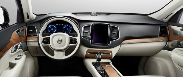 volvo toont het interieur van de xc90. Black Bedroom Furniture Sets. Home Design Ideas