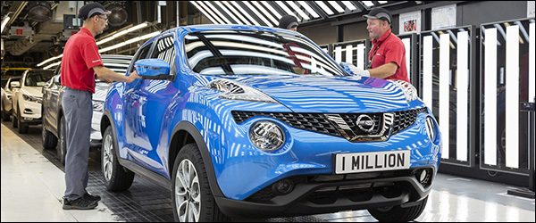 Nissan Juke nummer 1.000.000 is een feit!