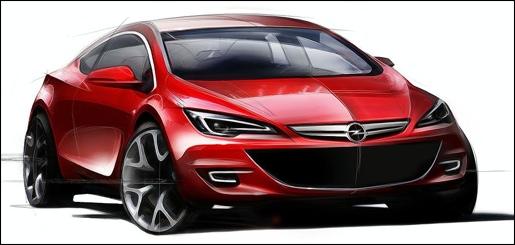 Opel Astra OPC Schets