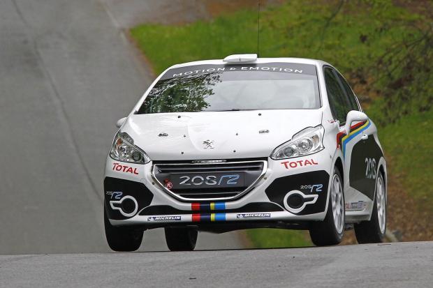 peugeot introduceert de 208 r2 rally car groenlicht be