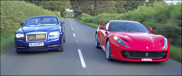 Poll: Ferrari 812 Superfast vs Rolls-Royce Dawn (2019)