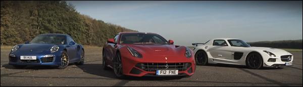 Poll: Ferrari F12 vs Mercedes SLS BS vs Porsche Turbo S