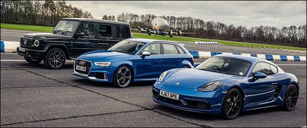 Poll: Mercedes-AMG G63 vs Porsche 718 Cayman GTS vs Audi RS3 Sportback (2019)