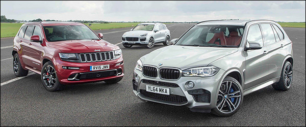 Poll: Jeep Grand Cherokee SRT vs Porsche Cayenne Turbo S vs BMW X5 M