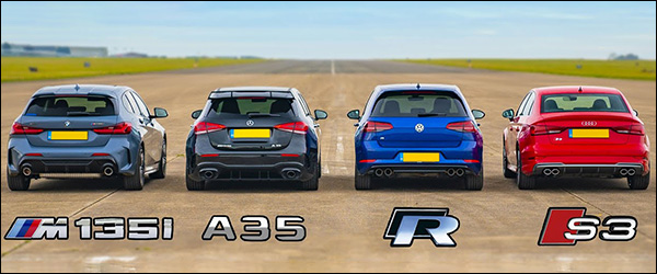Poll: BMW M135i vs Mercedes-AMG A35 vs Audi S3 vs Volkswagen Golf R (2019)