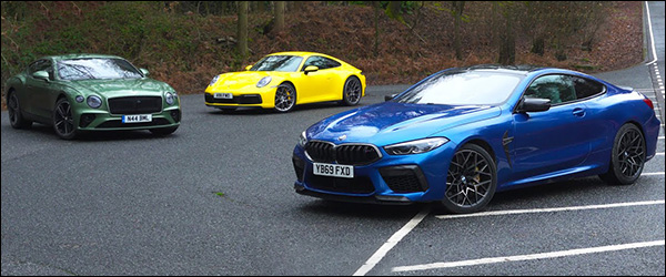 Poll: Bentley Continental GT vs BMW M8 Coupe vs Porsche 911 (2020)