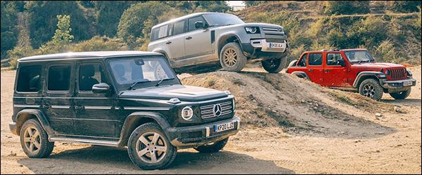 Poll: Land Rover Defender vs Jeep Wrangler vs Mercedes G-Klasse (2020)