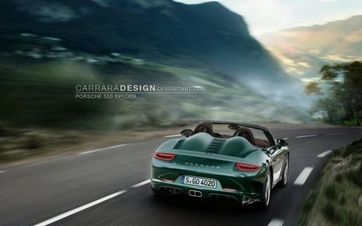 Porsche 550 Spyder Render