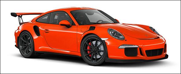 Belgische prijs Porsche 991 GT3 RS: €185.977