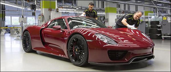 Productie Porsche 918 Spyder zit erop!