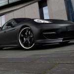 Matzwarte Porsche Panamera door TechArt
