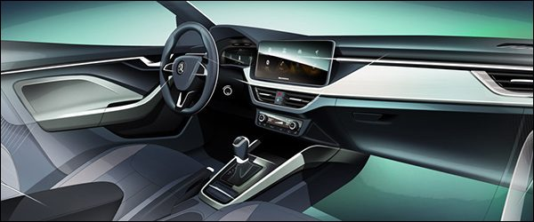 Preview: interieur Skoda Scala (2018)