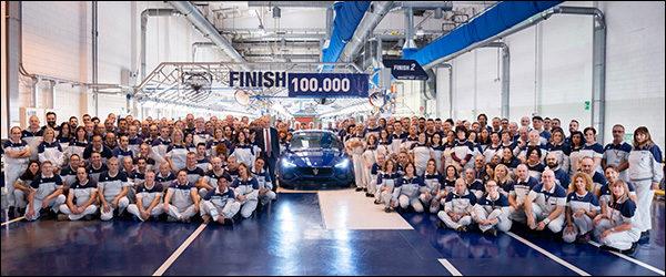 100.000ste Maserati Ghibli is een feit!