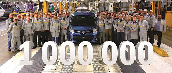 Renault Kangoo rolt 1.000.000 maal van de band
