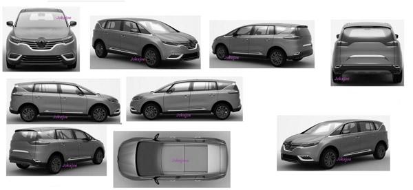 Renault espace 2015 patentafbeeldingen