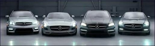 C-Klasse Coupe, SLS Roadster, CLS63 AMG & SLK