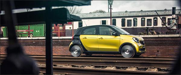Smart ForRail: een ForFour voor op de treinsporen