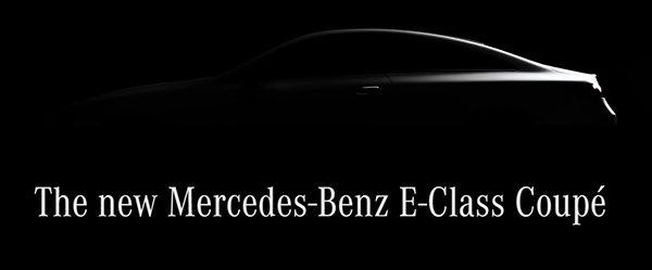Teaser: Mercedes E-Klasse Coupé (2017)