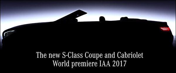 Teaser: Mercedes S-Klasse Cabriolet / Coupe facelift (2017)